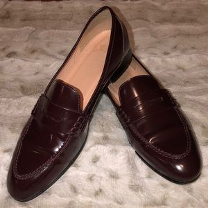J Crew Academy Loafer In Burnished Beet - 7M